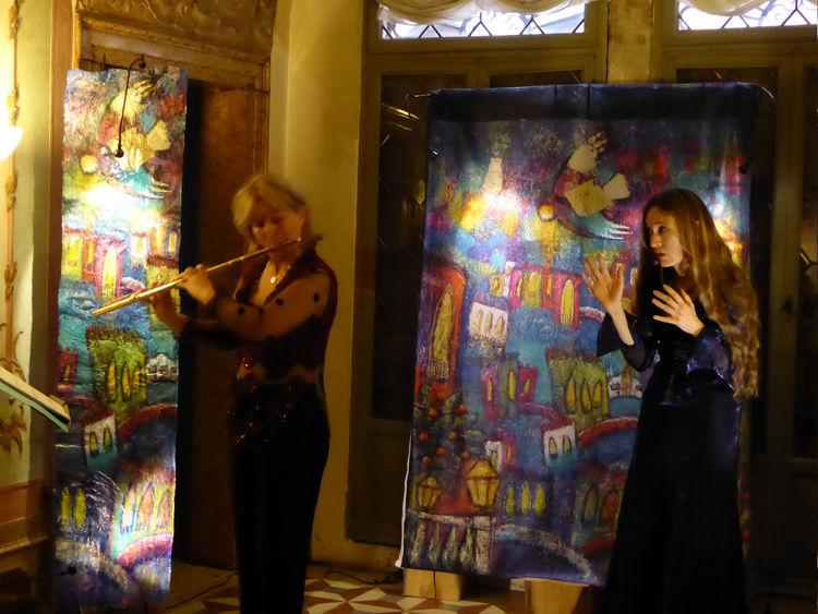 """p1010284.jpg """"La Flûte de la Salute"""" concert-spectacle jeune public présenté au Casino Venier par l'Alliance française de Venise."""