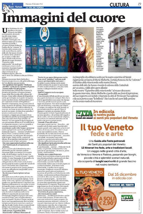 """19-vdp49-2016-page-001.jpg """"Immagini del cuore"""" intervista da Giovanna Azzola e Alessandra Cecchin per la Vita del Popolo, 25 dicembre 2016"""